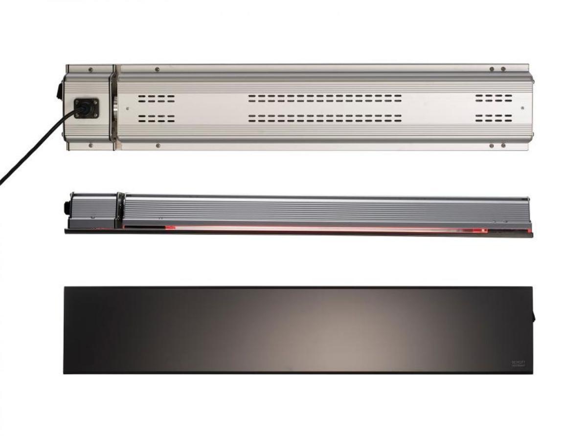 Infrarotstrahler Relax Glass IP65 1500 Watt schwarz