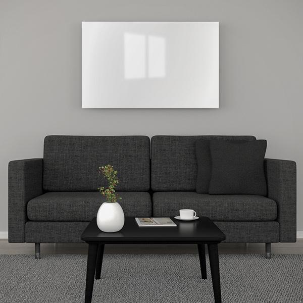 Glasheizung weiß 350Watt 90x30cm